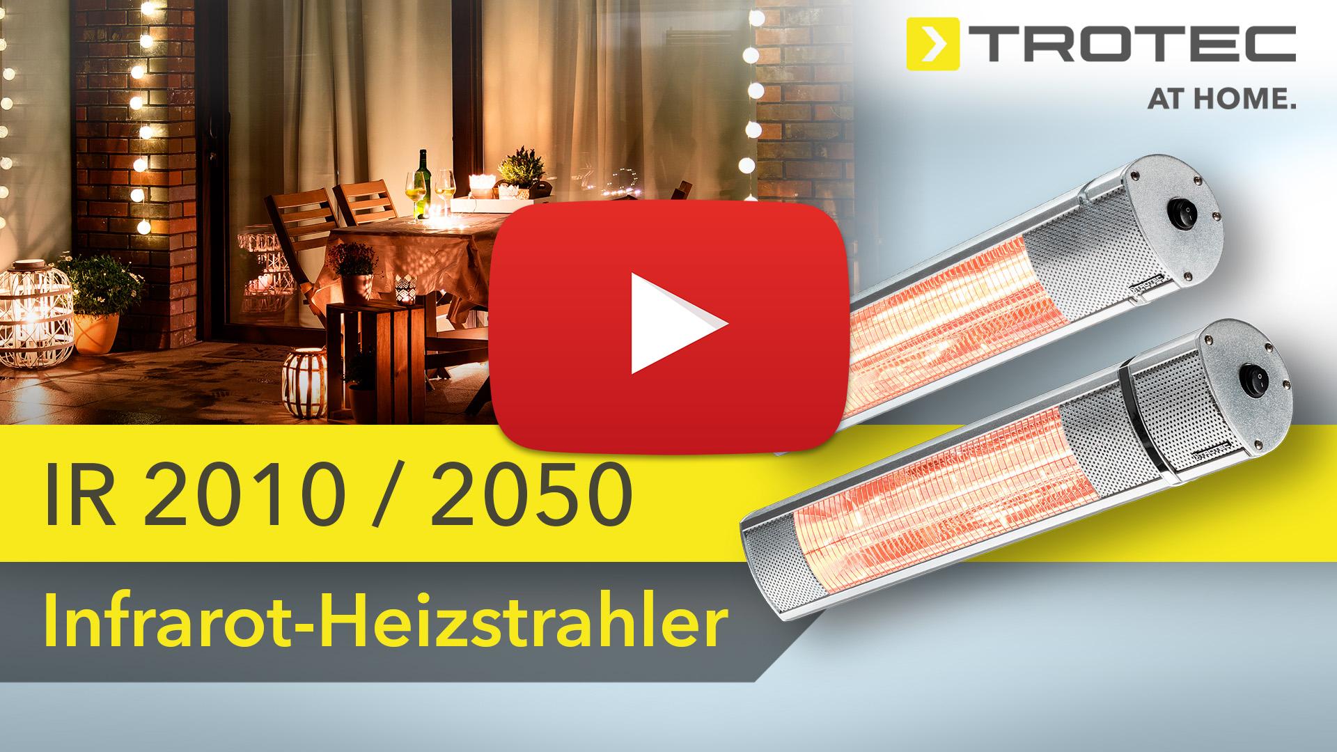 Infrarot Entfernungsmesser Funktionsweise : Heizstrahler ir 2050 trotec