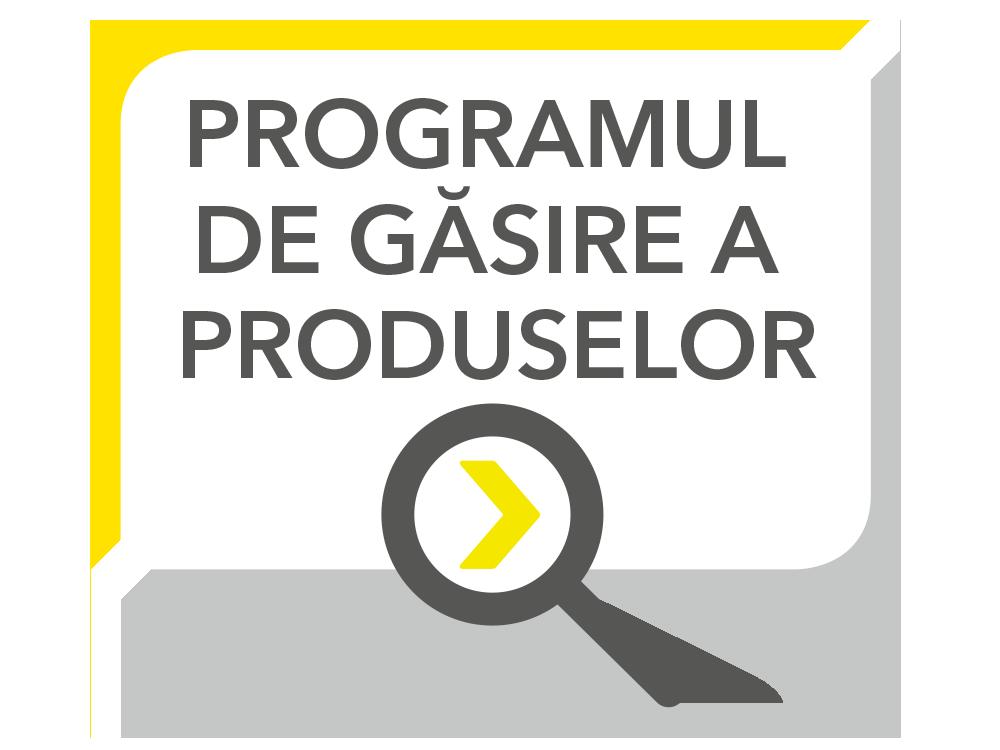 Direct la programul de găsire a produselor