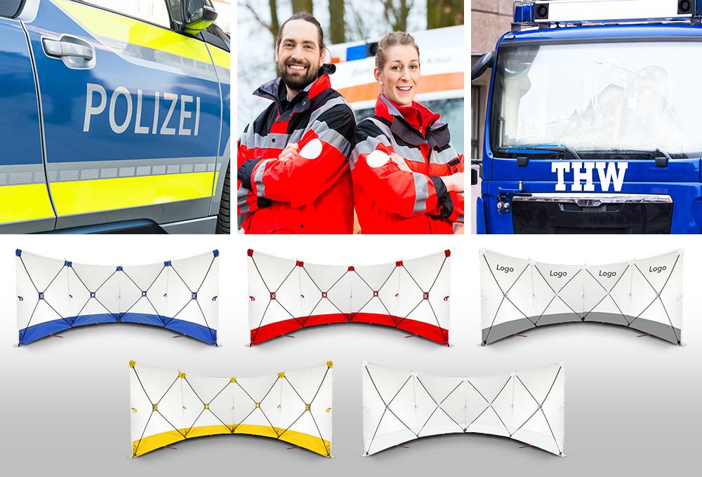 Ideal für Polizei, Rettungskräfte, THW