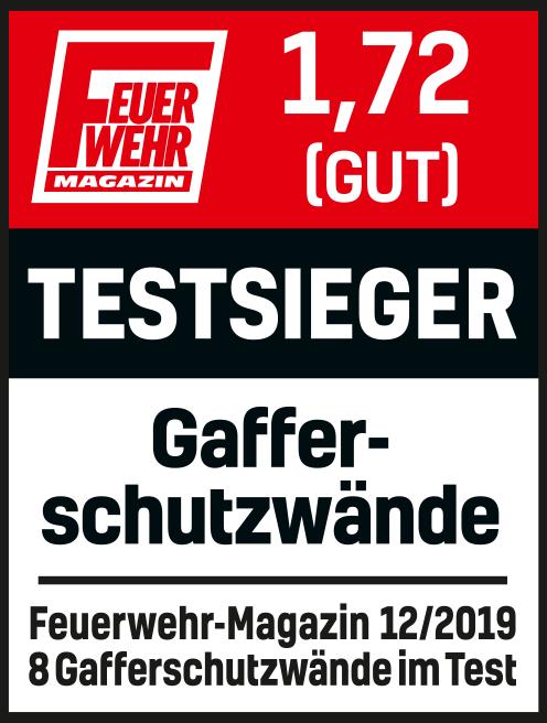 Testsieger im Feuerwehrmagazin (Ausgabe 12/2019)