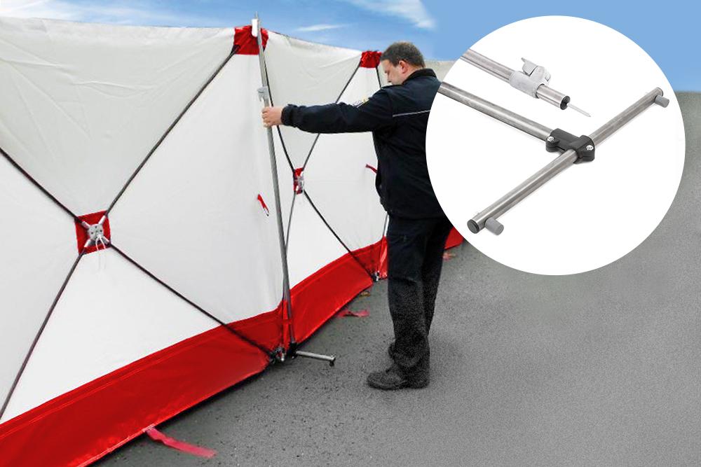 VarioScreen Sichtschutzwand – Teleskopstange