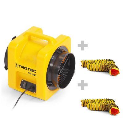 Förderventilator TTV 1500 + 2x SP-T Schlauch 203 mm