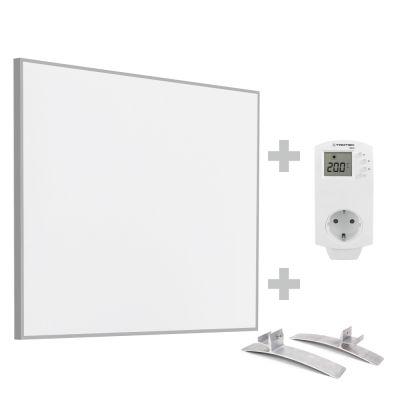Infrarot-Heizplatte / Infrarotheizung TIH 400 S inkl. Steckdosen-Thermostat BN30 und Standfüße
