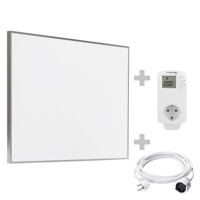 Infrarot-Heizplatte / Infrarotheizung TIH 500 S + PVC Verlängerungskabel 5 m + BN30
