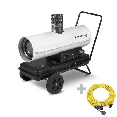 Ölheizgebläse IDE 20 + Profi-Verlängerungskabel 20 m / 230 V / 2,5 mm²