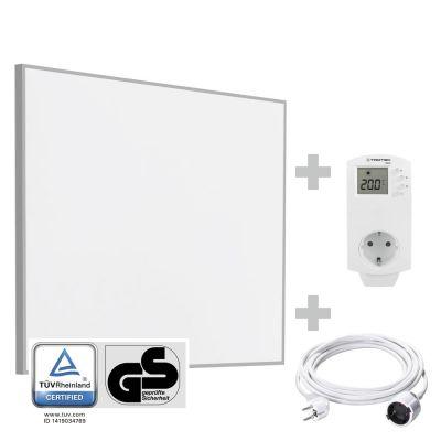 Infrarot-Heizplatte / Infrarotheizung TIH 400 S + PVC Verlängerungskabel 5 m + BN30