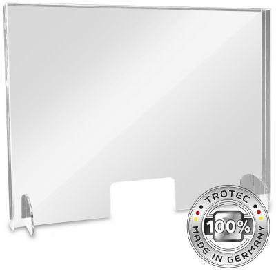 Thekenaufsatz Acrylglas mit Aerosol-Schutzkante LARGE 995 x 250 x 750