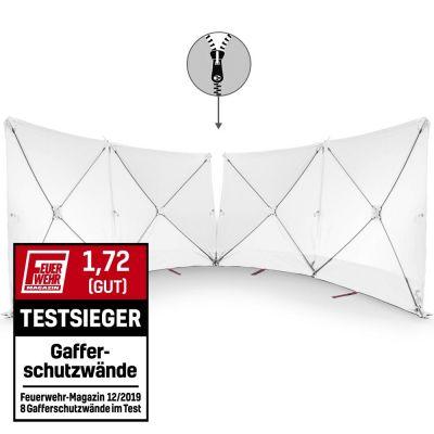 VarioScreen-Sichtschutzwand 4*180*180 mittig teilbar Weiß