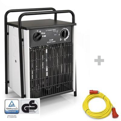 Elektroheizer TDS 50 + Profi-Verlängerungskabel 20 m / 400 V / 2,5 mm²