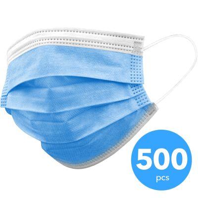 3-lagige Schutzmaske, Einweg Mund-Nasen Maske 500 Stück