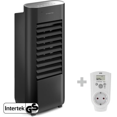 Design-Aircooler, Luftkühler, Luftbefeuchter PAE 22 + Steckdosen-Hygrostat BH30