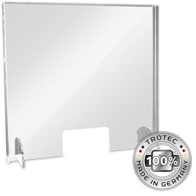 Thekenaufsatz Acrylglas mit Aerosol-Schutzkante MEDIUM 795 x 250 X 750