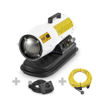 Direkt-Ölheizgebläse IDE 20 D + Profi-Verlängerungskabel + Ext. Thermostat