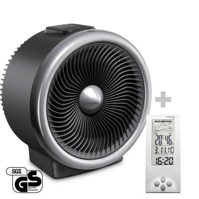 2-in-1 Heizlüfter, Ventilator TFH 2000 E + Design-Wetterstation BZ06