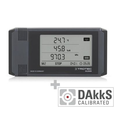 Profi-Datenlogger DL200D anthrazit - Kalibriert nach DAkkS D.2101