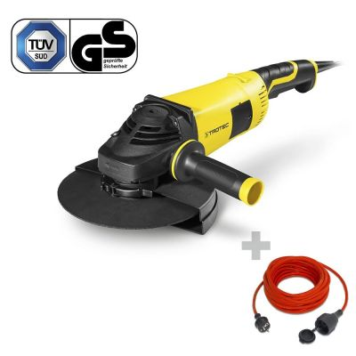 Winkelschleifer PAGS 10-230 + Qualitäts-Verlängerungskabel 15 m / 230 V / 1,5 mm²