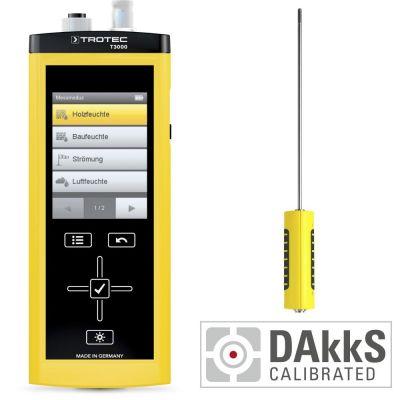 T3000 Multifunktionsmessgerät + TS 250 SDI Klimasensor - Kalibriert nach DAkkS D.2101