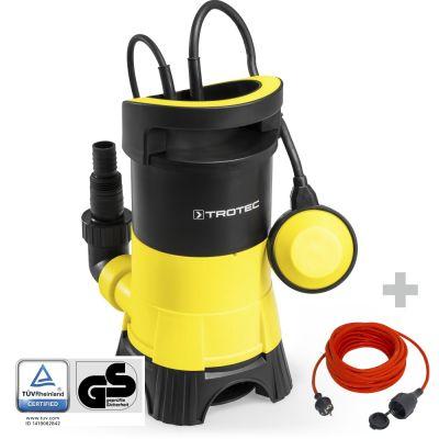 Schmutzwasser-Tauchpumpe TWP 4025 E + Qualitäts-Verlängerungskabel 15m / 230 V / 1,5 mm²