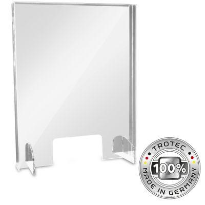 Thekenaufsatz Acrylglas mit Aerosol-Schutzkante SMALL 595 x 250 X 750