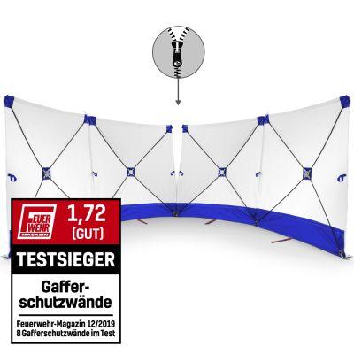 VarioScreen-Sichtschutzwand 4*180*180 mittig teilbar Blau