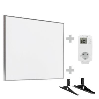 Infrarot-Heizplatte / Infrarotheizung TIH 500 S inkl. Steckdosen-Thermostat BN30 und Standfüße