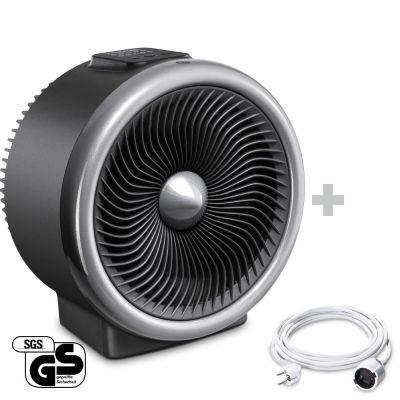 2-in-1 Heizlüfter, Ventilator TFH 2000 E + PVC-Verlängerungskabel