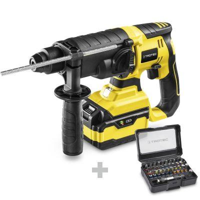 Akku-Bohrhammer PRDS 20-20V + Schrauber-Bitsatz 32-teilig