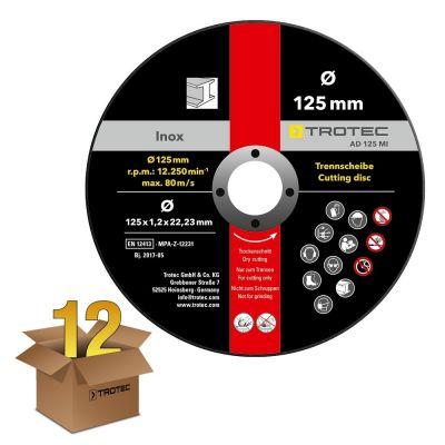 INOX-Metall-Trennscheibe AD 125 MI im 12er-Vorteilspaket