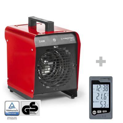 Elektroheizgebläse TDS 19 E + Raum-Thermohygrometer BZ05