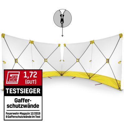 VarioScreen-Sichtschutzwand 4*180*180 mittig teilbar Gelb