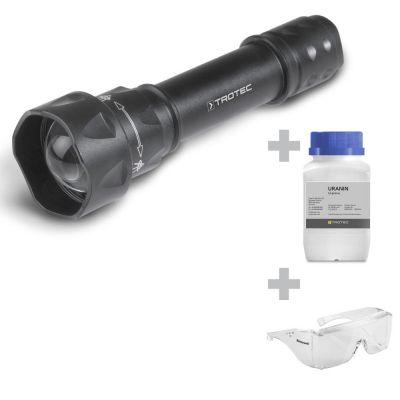 UV-Torchlight 15F + Uranin + UV-Schutzbrille