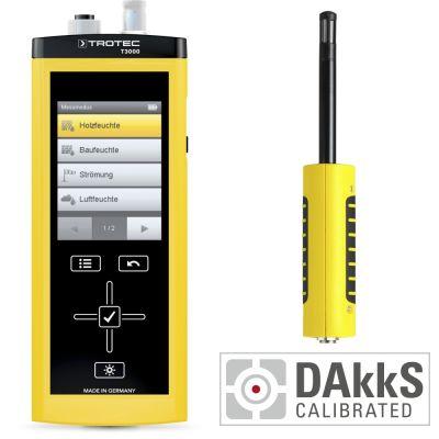 T3000 Multifunktionsmessgerät + TS 210 SDI Klimasensor - Kalibriert nach DAkkS D.2101