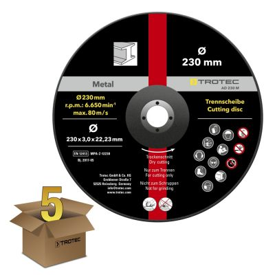 Trennscheibe Metall 230 - gekröpft, im 5er Vorteilspaket