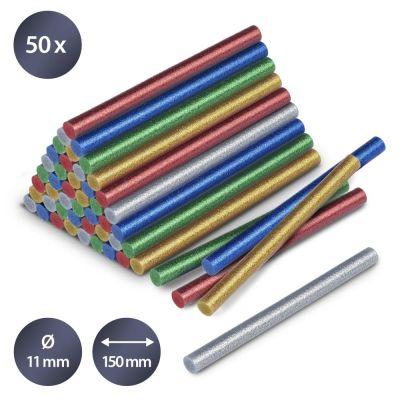 Heissklebestifte-Set Glitzer, 50 Stück (Ø 11 mm)