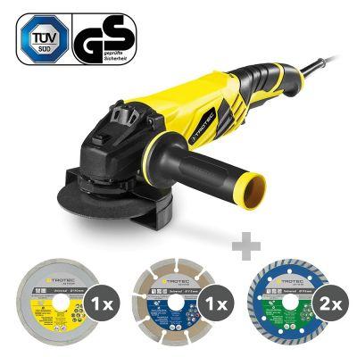 Winkelschleifer PAGS 10-125 + Diamant-Trennscheiben-Set 110/115