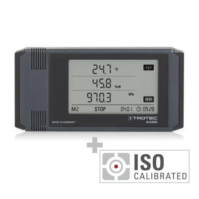 Profi-Datenlogger DL200D anthrazit - Kalibriert nach ISO I.2102