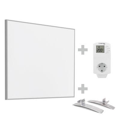 Infrarot-Heizplatte / Infrarotheizung TIH 300 S inkl. Steckdosen-Thermostat BN30 und Standfüße