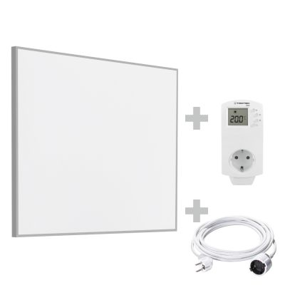 Infrarot-Heizplatte / Infrarotheizung TIH 300 S + PVC Verlängerungskabel 5 m + BN30