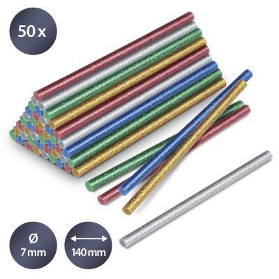 Heissklebestifte-Set Glitzer, 50 Stück (Ø 7 mm)