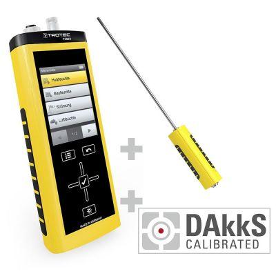 T3000 Multifunktionsmessgerät + TS 250 SDI Klimasensor - Kalibriert nach DAkkS D.2102
