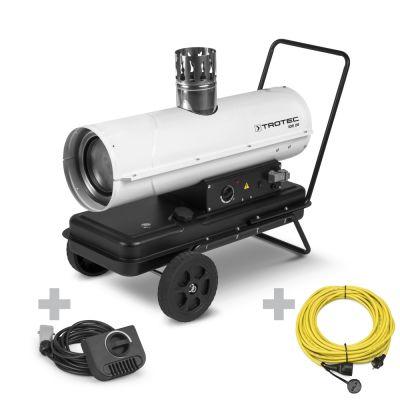 Ölheizgebläse IDE 20 + Profi-Verlängerungskabel + Ext. Thermostat
