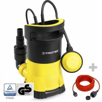 Klarwasser-Tauchpumpe TWP 4005 E + Qualitäts-Verlängerungskabel 15 m / 230 V / 1,5 mm²