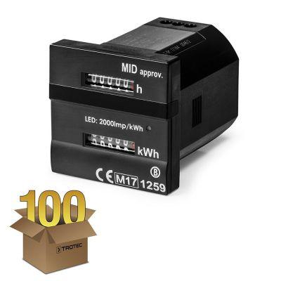 Dualzähler - Für Betriebs- und Kilowattstunden MID-konform im 100er Pack