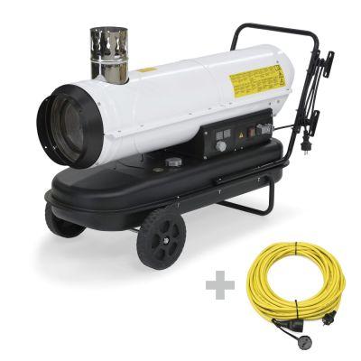 Ölheizgebläse IDE 30 + Profi-Verlängerungskabel 20 m / 230 V / 2,5 mm²