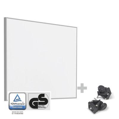 Infrarot-Heizplatte / Infrarotheizung TIH 400 S + Befestigungsklammern