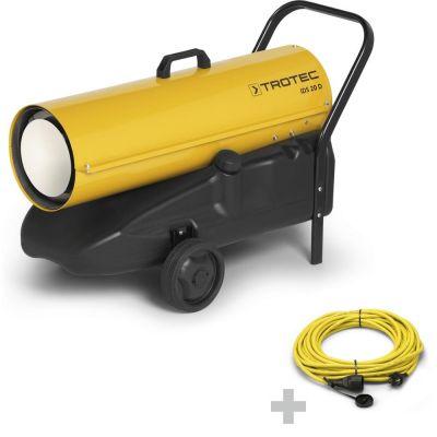 Direkt-Ölheizer IDS 20 D + Profi-Verlängerungskabel 20 m / 230 V / 2,5 mm²