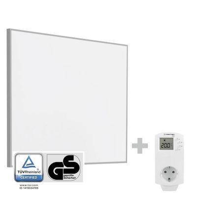 Infrarot-Heizplatte / Infrarotheizung TIH 400 S + Steckdosen-Thermostat BN30