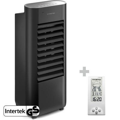 Design-Aircooler, Luftkühler, Luftbefeuchter PAE 22 + Design-Wetterstation BZ06