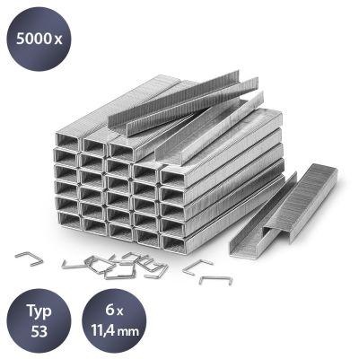 Tackerklammern-Set Typ 53, 6 mm Länge (5000 Stück)