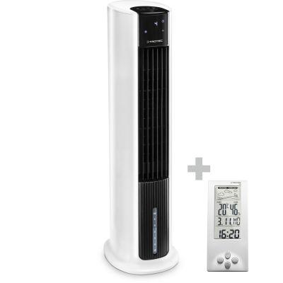 Aircooler, Luftkühler, Luftbefeuchter PAE 30 + Design-Wetterstation BZ06